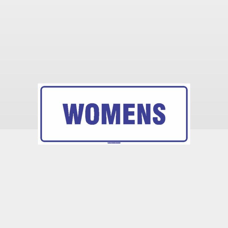 Womens Toilet White Background Sign