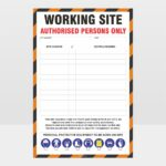 Working Site Authorised Persons Only