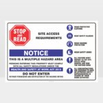 Notice Site Access Requirements Landscape Sign