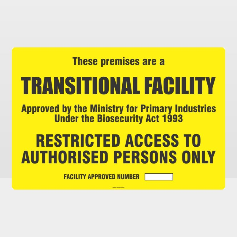 Transitional Facility Sign