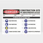 Danger Construction Site No Access 01 Sign