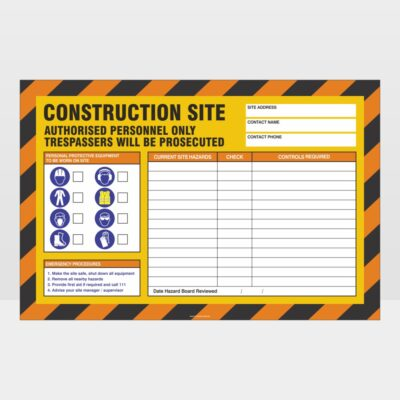 Construction Site Authorised Personnel Only Sign