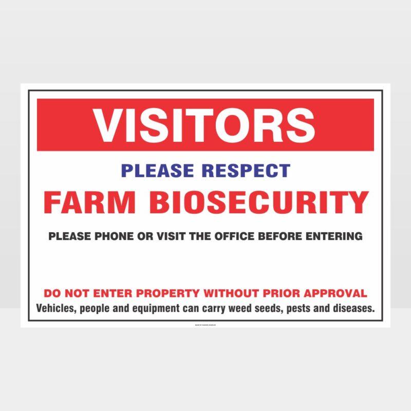 Farm Biosecurity Sign