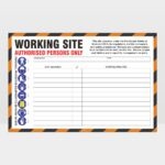 Working Site Authorised Persons Only Sign