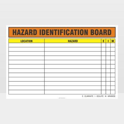 Hazard Identification Board Sign