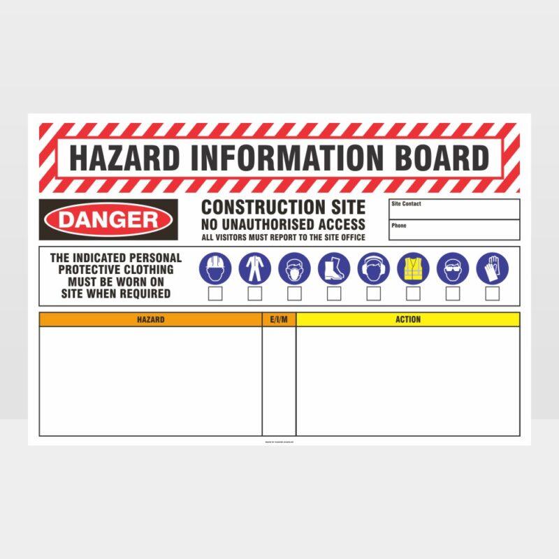 Hazard Information Board Sign
