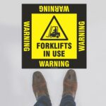 Warning Forklifts In Use Floor Sign