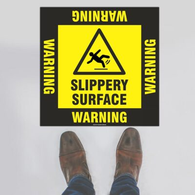 Warning Slippery Surface Floor Sign