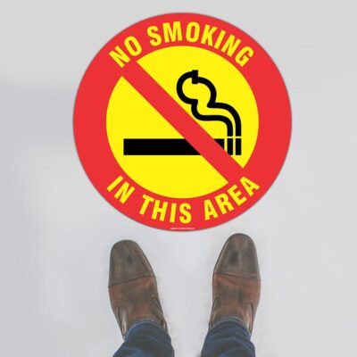 No Smoking In This Area Floor Sign