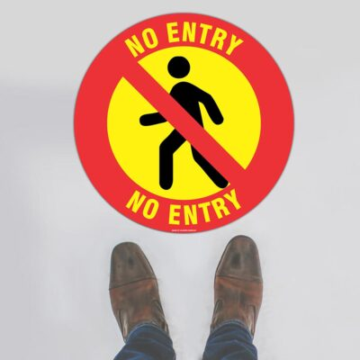 No Entry (Round) Floor Sign