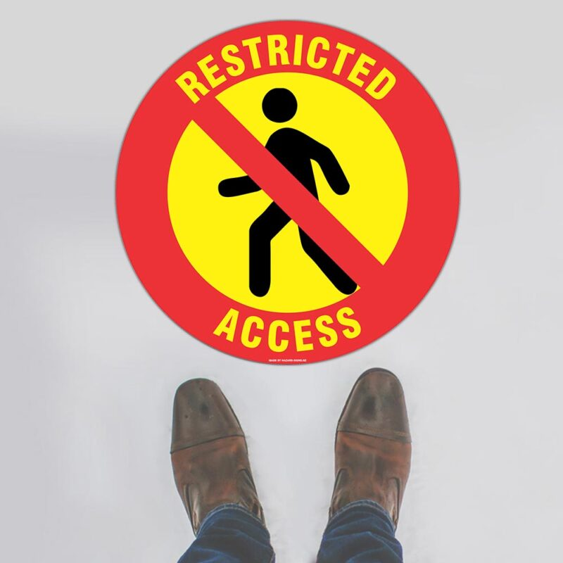 Restricted Access Floor Sign