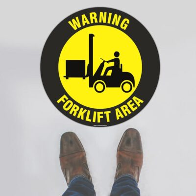 Warning Forklift Area Floor Sign