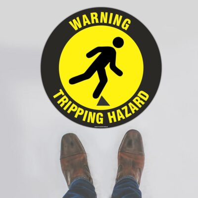 Warning Tripping Hazard Floor Sign