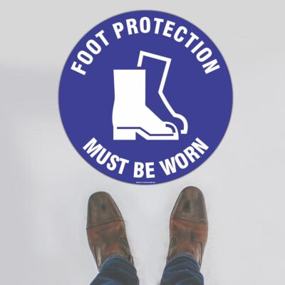 Foot Protection Floor Sign