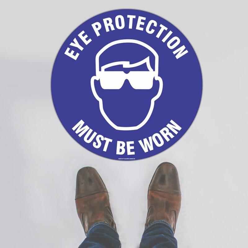 Eye Protection Floor Sign