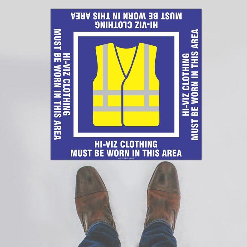 Hi-Viz Clothing Floor Sign