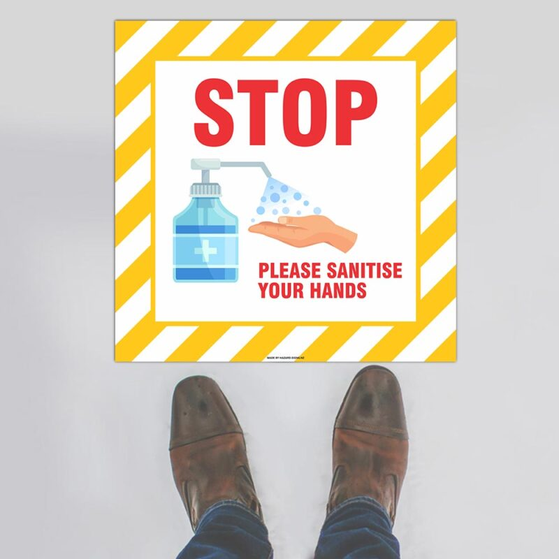 Sanitise Your Hands Floor Sign