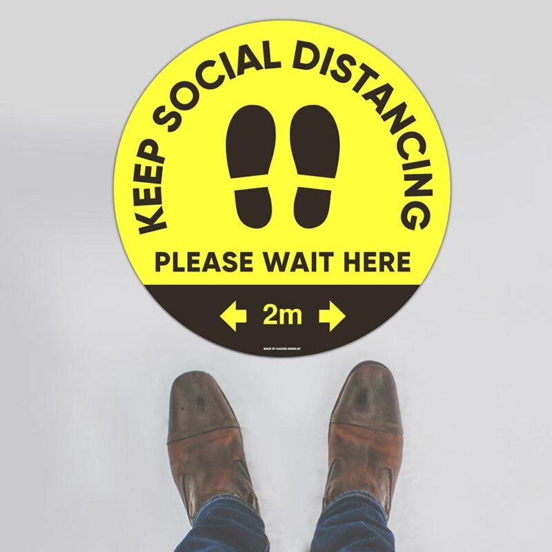 Keep Social Distancing Floor Sign