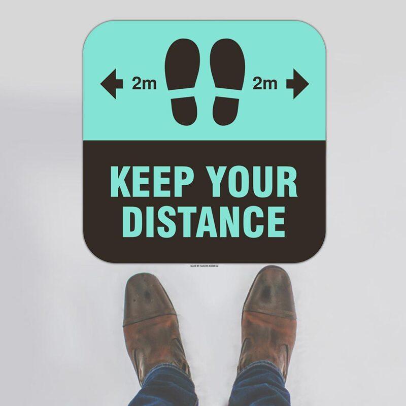 Keep Your Distance Floor Sign