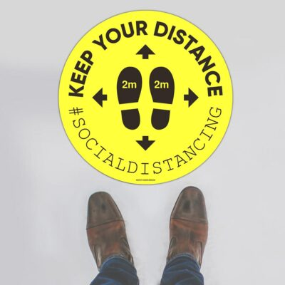 Keep Your Distance 01 Floor Sign