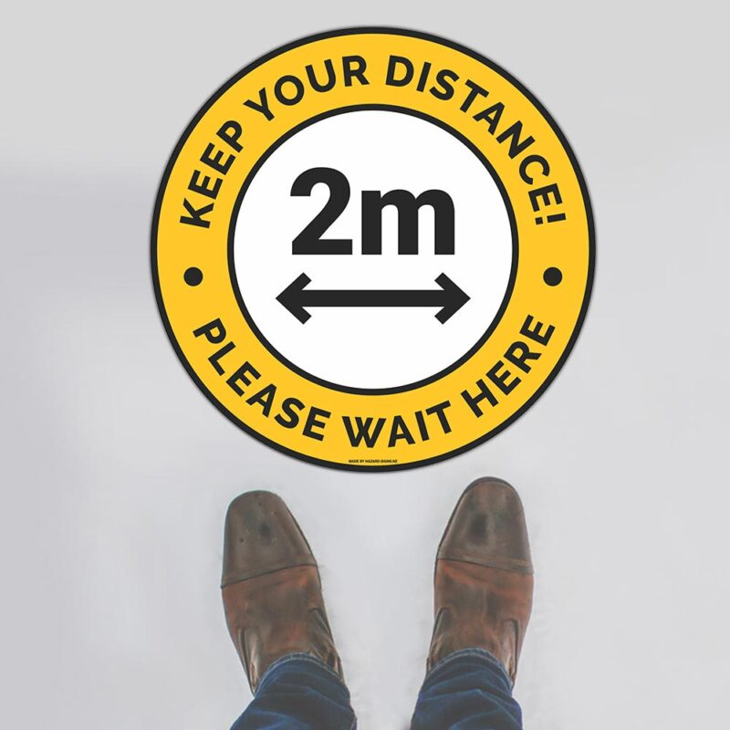 Keep Your Distance 2m Floor Sign