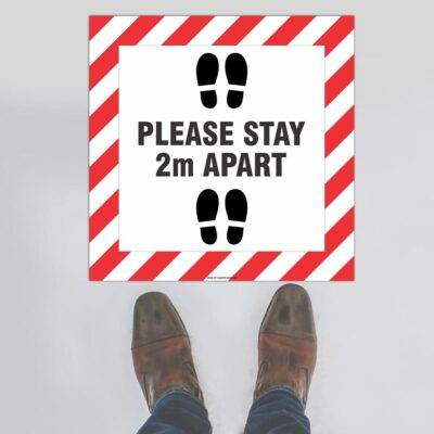 Please Stay 2m Apart Floor Sign