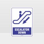 Escalator Down Sign