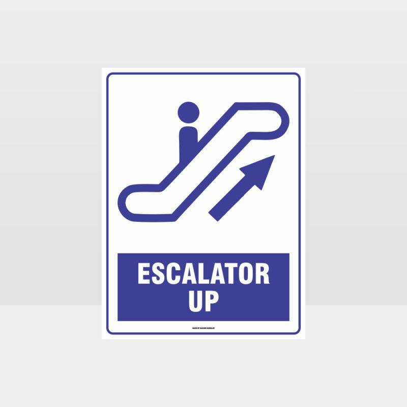 Escalator Up Sign