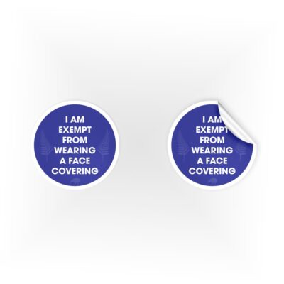 Face Covering Exemption Stickers
