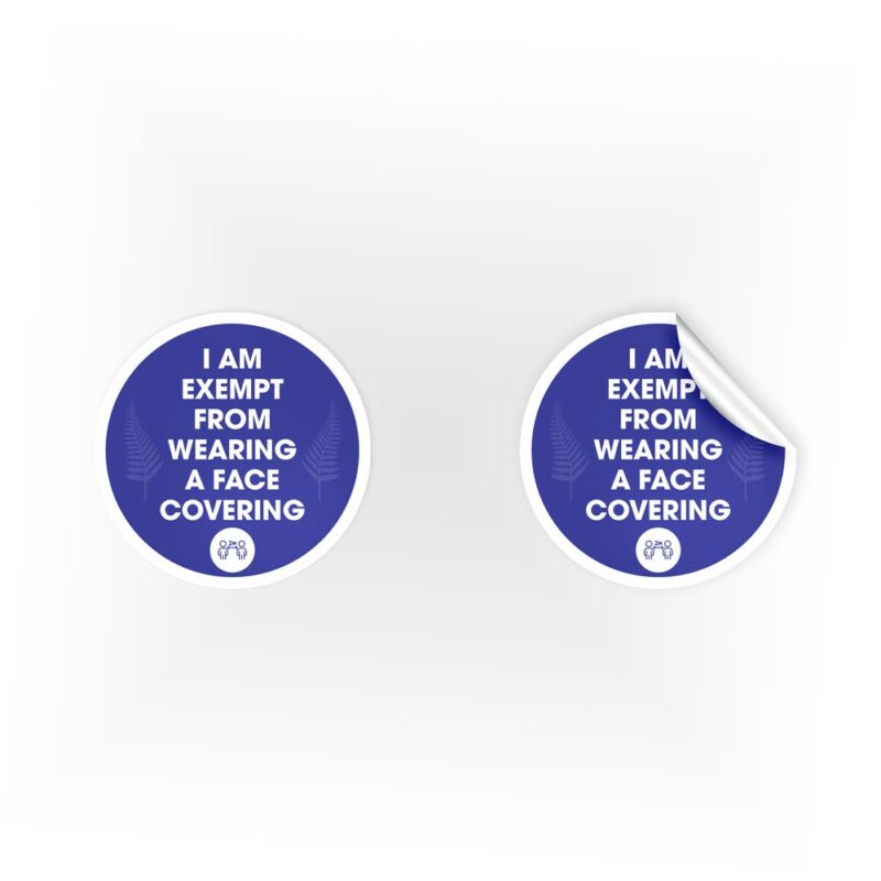 2m Face Covering Exemption Stickers
