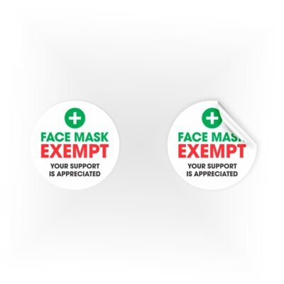 Face Mask Exempt Stickers