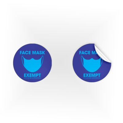 Face Mask Exempt Be Supportive Stickers