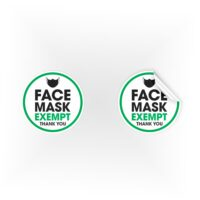 COV07-Face-Mask-Exempt-Thankyou-Green-Sign