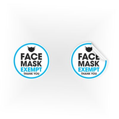 Face Mask Exempt Thank You Stickers