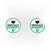 COV10-Mask-Medically-Exempt-Mask-Green-Sign
