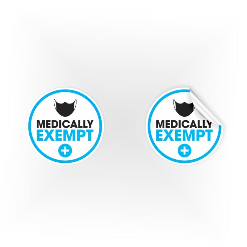 Medically Exempt Mask Stickers