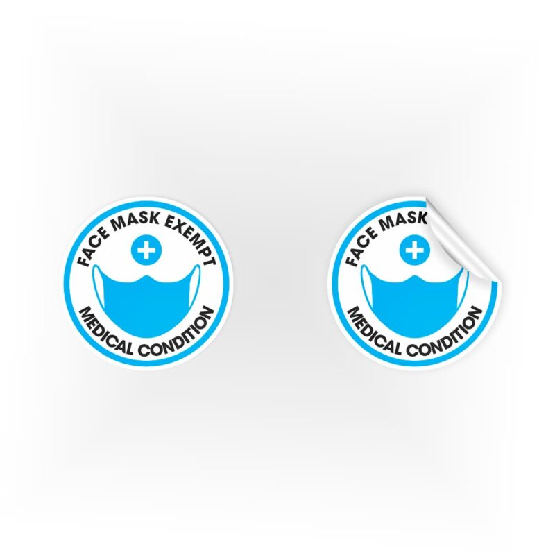 Face Mask Exempt Medical Condition Stickers